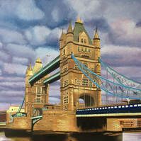 London Tower Bridge original oil painting