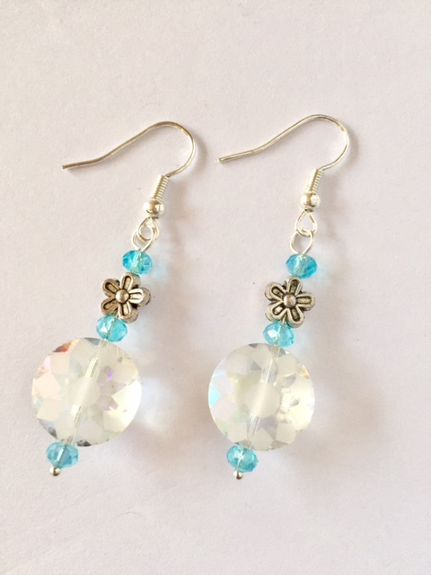 SALE! Sparkling Frosted Floral Earrings