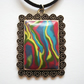Multi Coloured Rainbow Mokume Gane Pendant