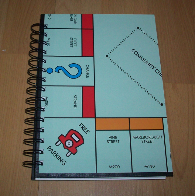 Monopoly Board Game Notebook A5 Folksy