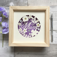 Mum Papercut, Mother's Day Gift, Handmade Gifts, Gifts for Mum