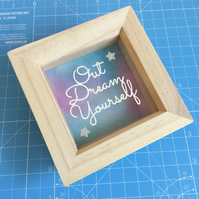 Small Papercut, Nursery Decor, Framed Quote, Papercutting.
