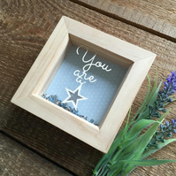 You are a Star Papercut, Nursery Decor, Papercutting, Nursery Wall Art, Handmade