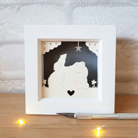Mother's Day Gift, Bear Papercut, Nursery Decor.