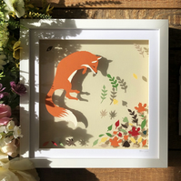 Jumping Fox Papercut