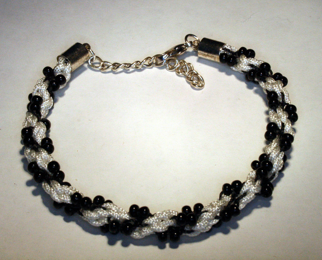 Kumihimo Bracelet Part Beaded