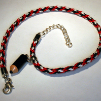 Kumihimo Anklet with Pencil Charm