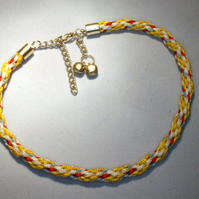 Kumihimo Anklet with Charms