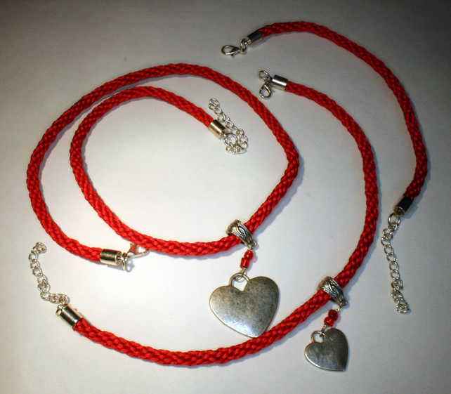 Kumihimo Necklace,Anklet and Bracelet Set