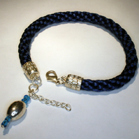 Kumihimo Anklet with Charm