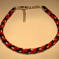 Kumihimo Bracelet 'Trinidad and Tobago'