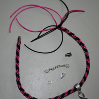 Kumihimo Bracelet with Hope Charm