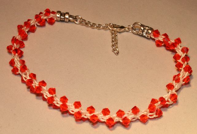 Kumihimo Bracelet with Swarovski Beads