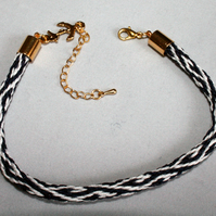 Kumihimo Bracelet 'Wave' with Anchor Charm