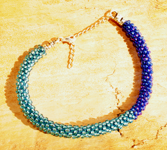 Beaded Kumihimo Bracelet 'Variegated'