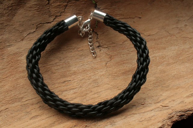 Kumihimo Bracelet 'Leather'