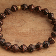 Beaded Bracelet Copper