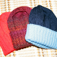 Hand Knit Beanie Hats (SALE)