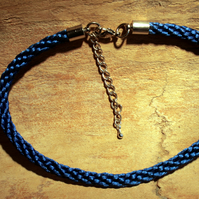 Blue Kumihimo Anklet