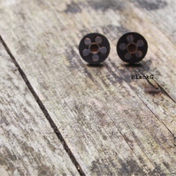Fleur, flower stud earrings, laser cut jewellery.