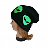 Alien Knitted Slouchy Hat