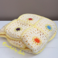 Beautiful Crochet Handmade Vintage Style Baby Blanket Ideal Baby Shower Gift