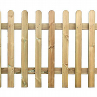 Wooden Picket Fence Panel 6ft Wide x 2ft High - Pressure Treated