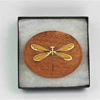Dragonfly Wooden Brooch, Shawl Pin, Dragonfly Design