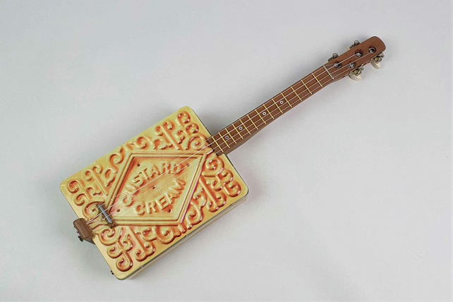 The Custard Cream Ukulele, Ukulele Wall Art, Ukulele Gift