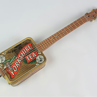 Yorkshire Tea Guitar Wall Art, Cigar Box Guitar, Guitar Art, Personalised Gift