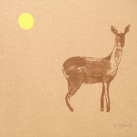 Deer screen print