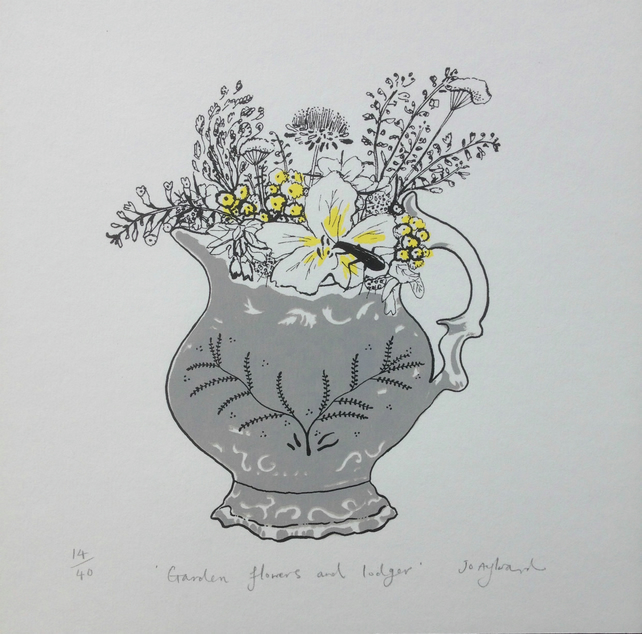 Garden Flowers and Lodger (screen print)