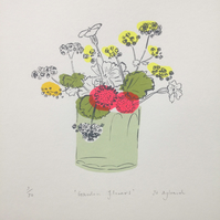 Garden Flowers (screen print)