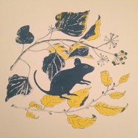 Autumn Mouse screen print