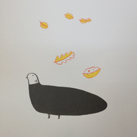 Plump Pigeon: orange-yellow