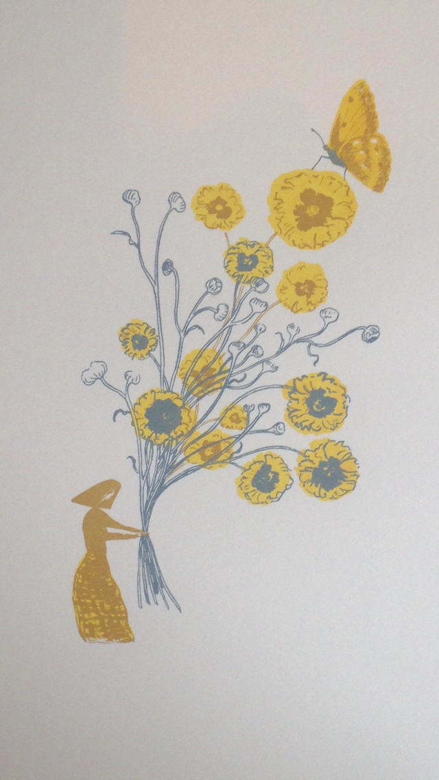 "Original screenprint - ""Flo's Flowers"""