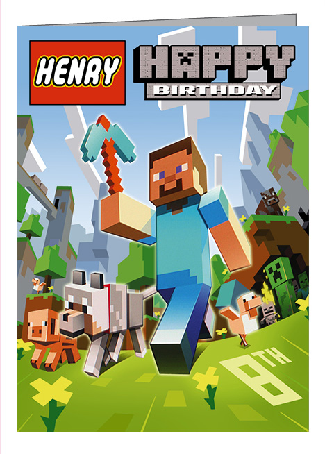 Minecraft Birthday Cards gangcraftnet – Lego Birthday Card