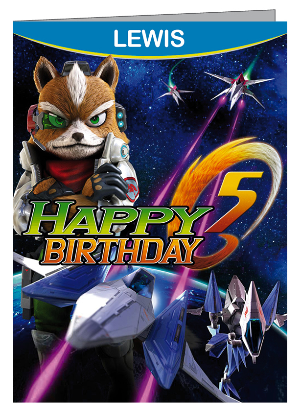Star Fox Zero Personalised Birthday Card (A5)