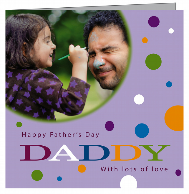Personalised Father's Day Card with your Photograph