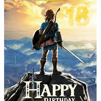 The Legend of Zelda Breath of the Wild Personalised Birthday Card (A5)