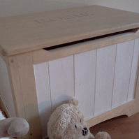 Personalised Hand Carved Toy Box