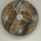"Large industrial ""Shabby Chic"" wall clock"