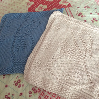 2 dish cloths, Country boy and girl Dish Cloths