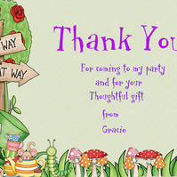 Printable Personalised Mad Hatter Thank You Note