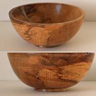 Hand turned spalted Beech bowl, great gift or tidy