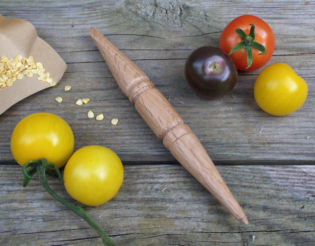 Hand turned small wooden Garden Dibber or pricking out tool, ideal gift
