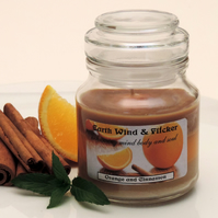 Scented Candle - Orange & Cinnamon - Secret Santa gift - Christmas gift