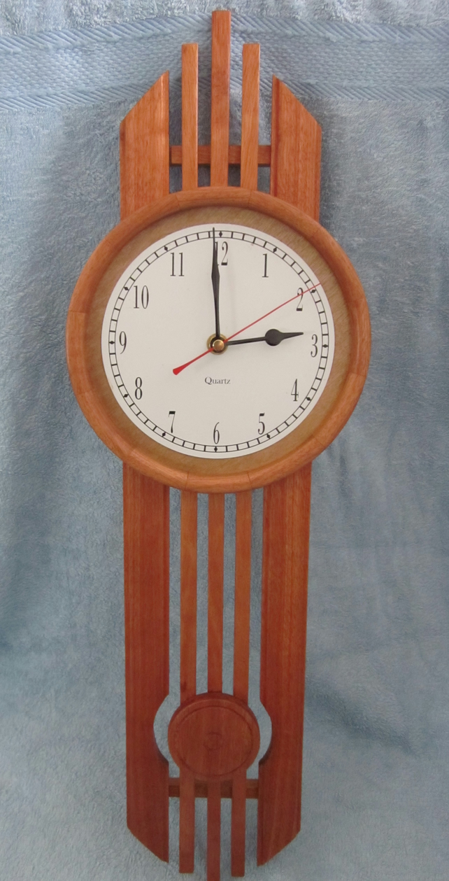 Unusual Or Art Deco Style Wall Clock