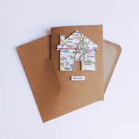 House Map Greetings Card