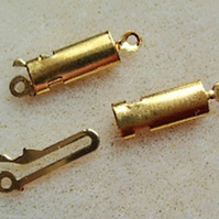 Box clasp, gold plated, 20mm